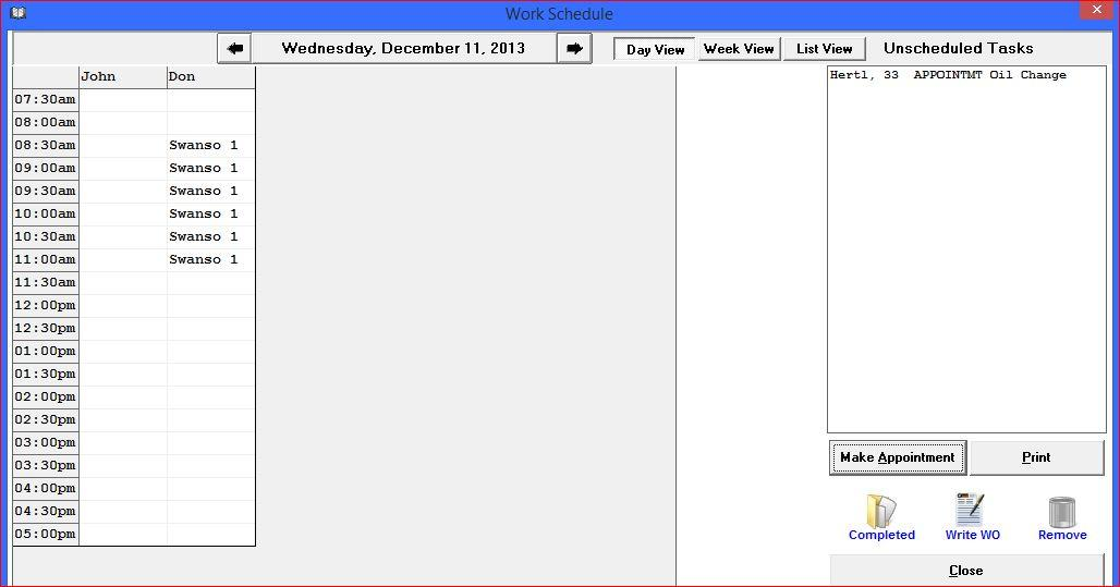 Drag & Drop Scheduling with Winworks AutoShop