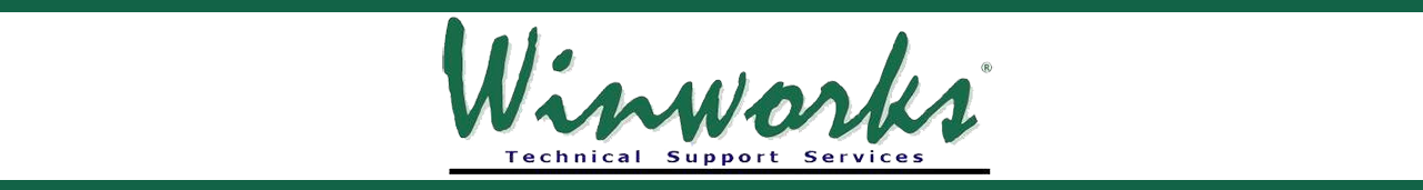 Winworks AutoShop Technical Support page