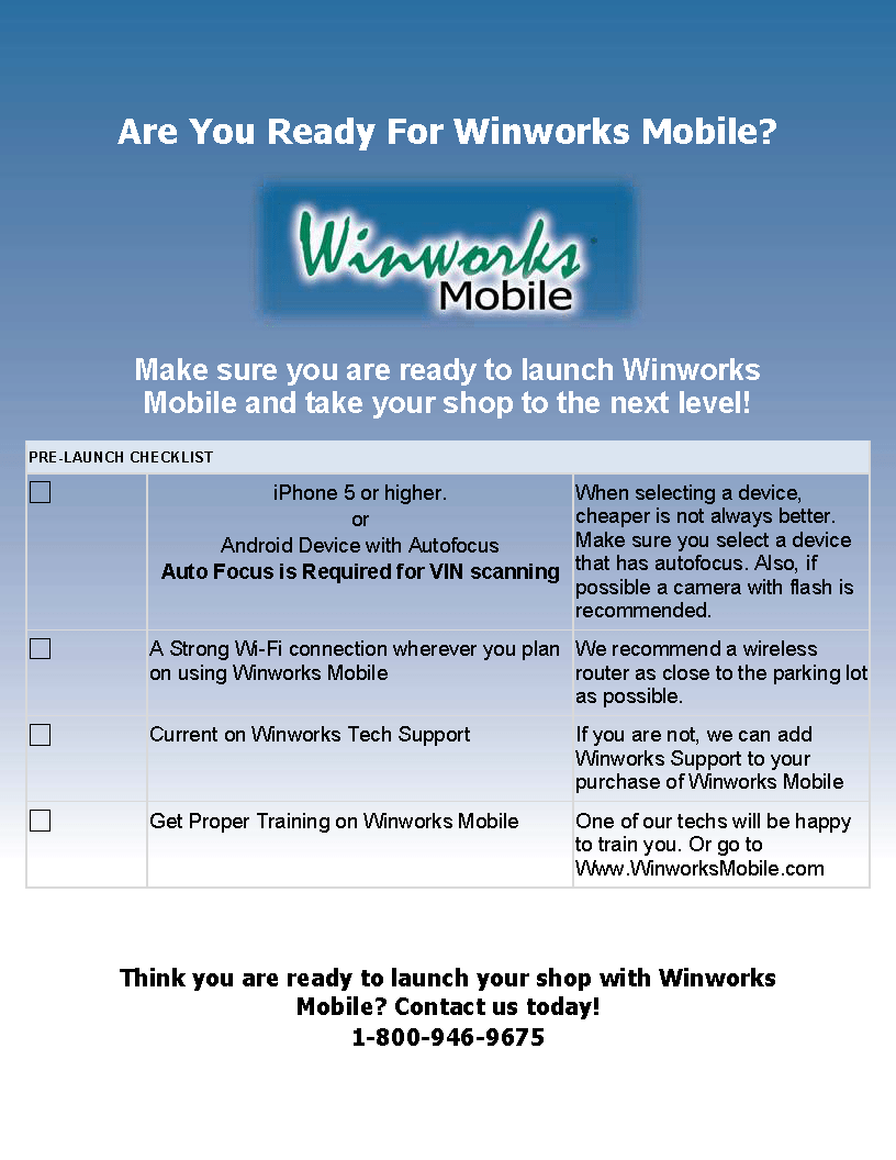 Are you Ready For Winworks Mobile?