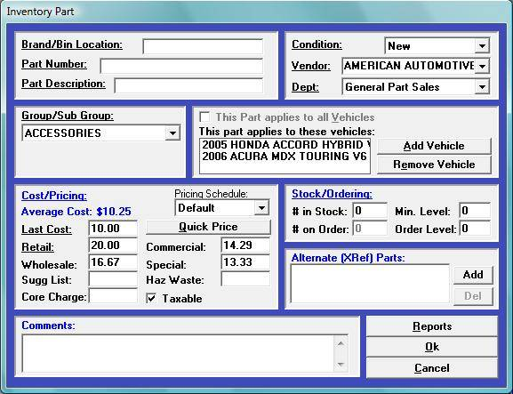 Powerful inventory management with Winworks AutoShop