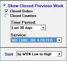show closed work orders