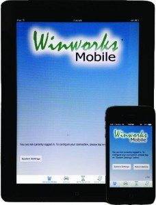 Winworks AutoShop works on mobile devices like iPhone, iPad, Android devices